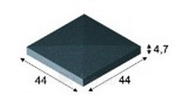 Concrete fence canopies (four slopes) E3 44x44x4,7 cm Paveikslėlis 1 iš 1 239320400002