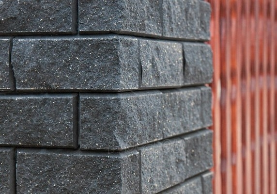 Betoninis tvoros stulpo blokelis Nojus B-2 (grafitinis) Paveikslėlis 2 iš 3 239320100011