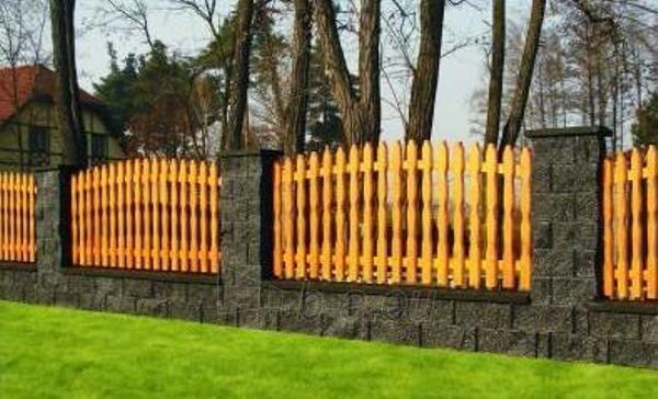 Betoninis tvoros stulpo blokelis Nojus B-2 (grafitinis) Paveikslėlis 1 iš 3 239320100011