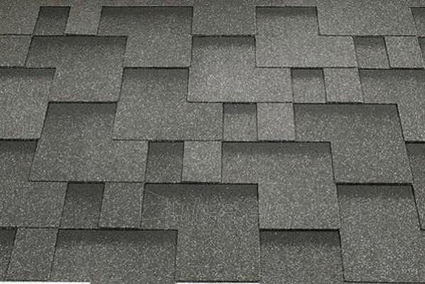Bitumen roof shingles Super Rocky graphite grey Paveikslėlis 1 iš 1 237140000060