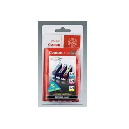 CANON INK CARTRIDGE CLI-521 C/M/Y PACK Paveikslėlis 1 iš 1 250256000340