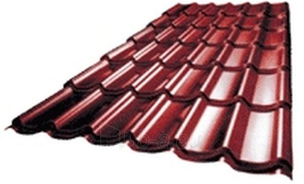 Tile effect steel roof Granat (plastisol) Paveikslėlis 1 iš 3 237110200025