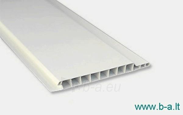 Dailylentės plastikinės 2700x100x10 mm baltos Paveikslėlis 1 iš 2 237714000213