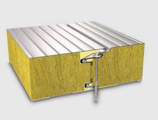 Sandwich panel for external wall FTVI 150 mm (with a core of stone wool) Paveikslėlis 1 iš 1 237190200018