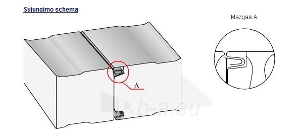 Daugiasluoksnė stoginė plokštė 'Sandwich' 80 mm (akmens vatos užpildo) Paveikslėlis 5 iš 5 237190200009