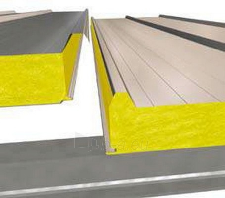 Sandwich panel for roof SNV-3 L 80 mm (with a core of stone wool) Paveikslėlis 1 iš 1 237190200022