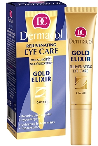 Dermacol Gold Elixir Rejuvenating Eye Care Cosmetic 15ml Paveikslėlis 1 iš 1 250840800086