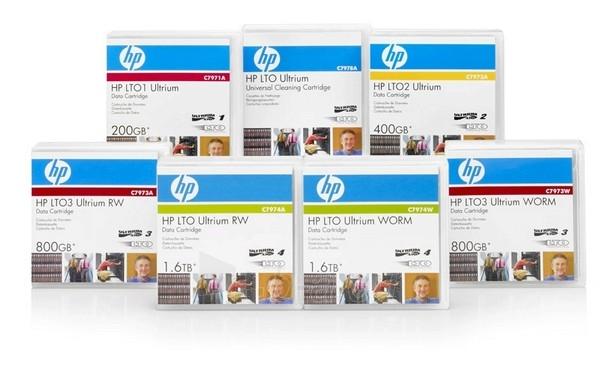 Duomenų laikmenos HP ULTRIUM 4DATACARTRIDGE 1.6TB RW Paveikslėlis 1 iš 1 250256800010