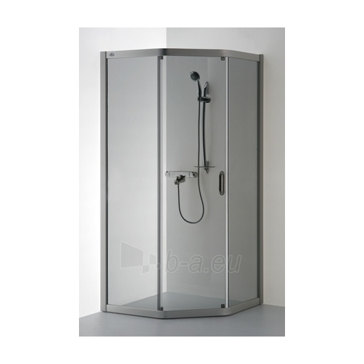 Shower enclosures VAIVA 90x80 | Stained glass in gray or brown Paveikslėlis 1 iš 1 270730000254