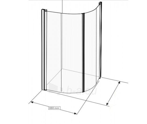 Dušo sienelė IFO SPACE 2000 SBNK 900 profilis aliumio, stiklas skaidrus Paveikslėlis 3 iš 3 270770000030