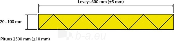 Ekstruzinis polistirolas Finnfoam FI-300 1250x600x20 Paveikslėlis 2 iš 2 237221000018
