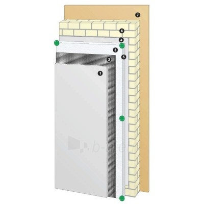Facade polystyrene Standart 1000x1000x100 Paveikslėlis 1 iš 1 237271000010
