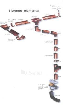 GALECO Lietvamzdis (4metrai) RU 100 Šokoladinė RAL 8017 Paveikslėlis 1 iš 2 237520700070