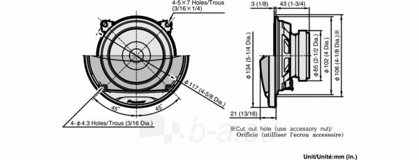 Garsiakalbiai PIONEER TS-G1011i Paveikslėlis 2 iš 2 250211200074