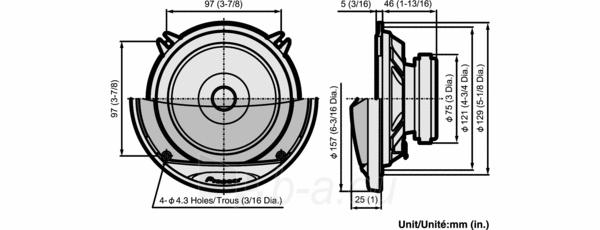 Garsiakalbiai PIONEER TS-G1021i Paveikslėlis 2 iš 2 250211200077