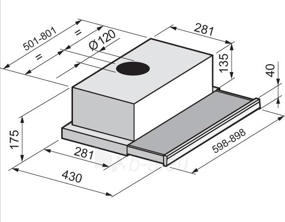 Tvaika nosūcējs Candy CBT6240X Paveikslėlis 2 iš 2 25113000493