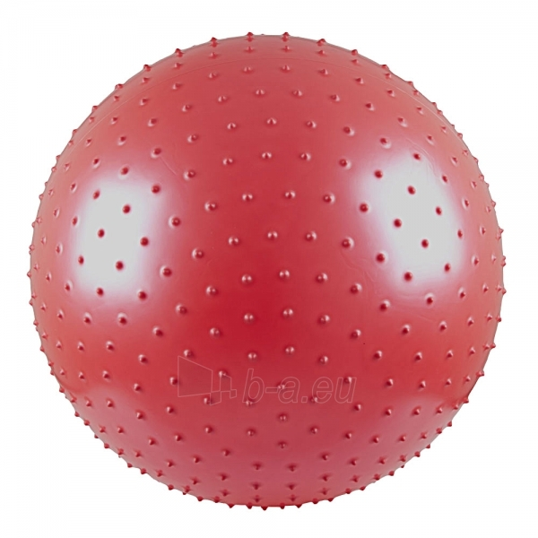 Gimnastikos ir masažo kamuolys 65cm raudonas Paveikslėlis 1 iš 4 250620200050