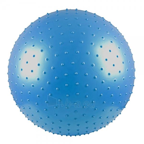 Gimnastikos ir masažo kamuolys 65cm žydras Paveikslėlis 1 iš 4 250620200051