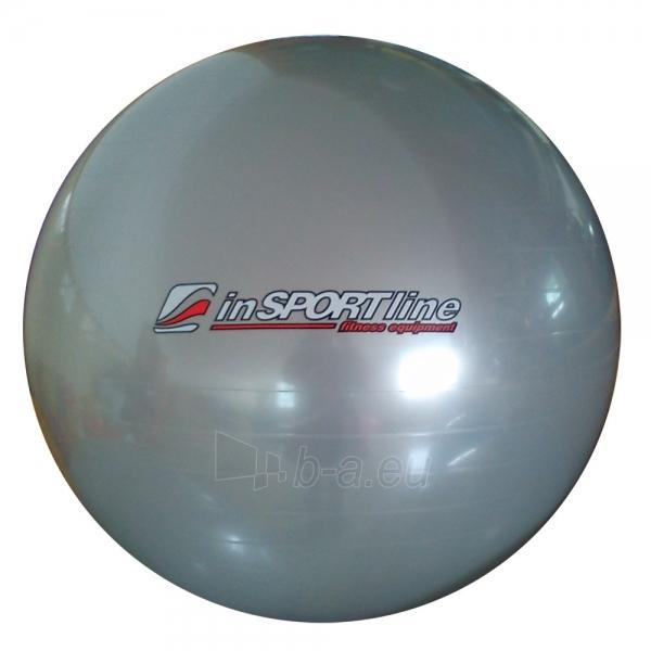 Gimnastikos kamuolys inSPORTline Comfort Ball 75 cm pilkas Paveikslėlis 1 iš 2 250620200073