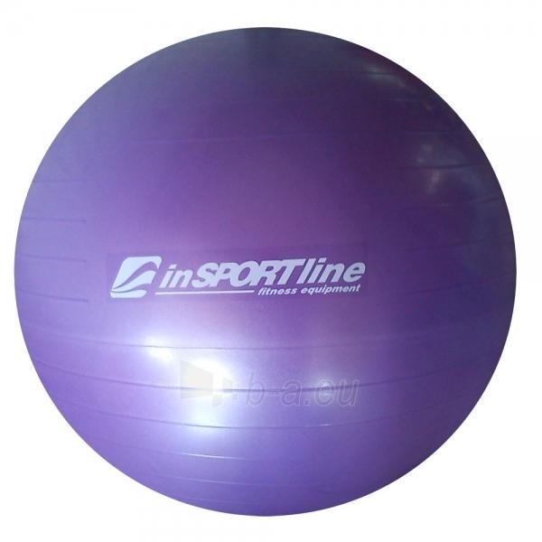 Gimnastikos kamuolys inSPORTline Comfort Ball 75 cm violetinis Paveikslėlis 1 iš 2 250620200074