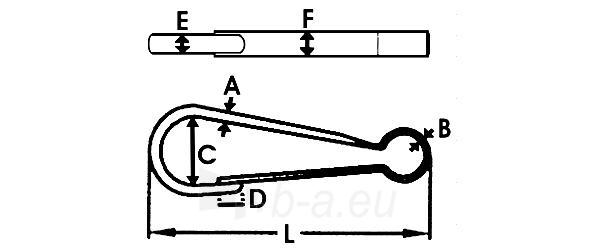 Grandinės susegiklis L-40 Paveikslėlis 1 iš 1 236431900001
