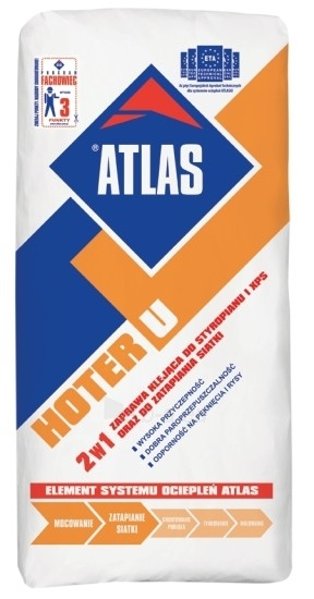 ATLAS HOTER U - 2 in 1: adhesive for EPS and XPS application and for mesh embedding 25kg Paveikslėlis 1 iš 1 236780200005