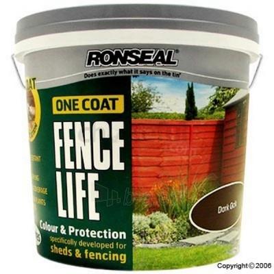 Impregnantas medienos 9 lit .kedras One Coat Fencelife vienu sluoksniu. Paveikslėlis 1 iš 2 236860000192