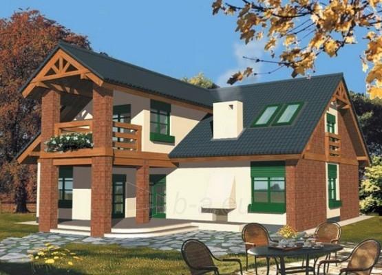 Individualaus namo projektas 'Julija (su garažu)' Paveikslėlis 1 iš 1 238520000060