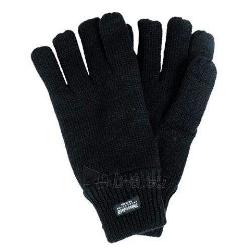 Juodos žieminės pirštuotos pirštinės Thinsulate Paveikslėlis 1 iš 1 251510800015