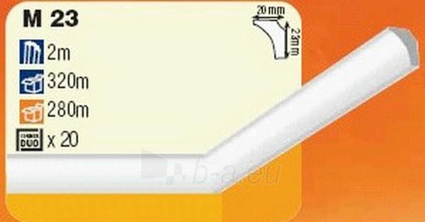 Juostelė lubų apdail ekstrud M23 balta Paveikslėlis 1 iš 1 237764000004