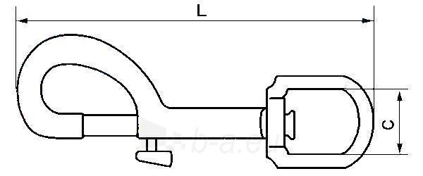Karabinas dekoratyvinis L-53, nikeliuotas Paveikslėlis 2 iš 2 236430500000