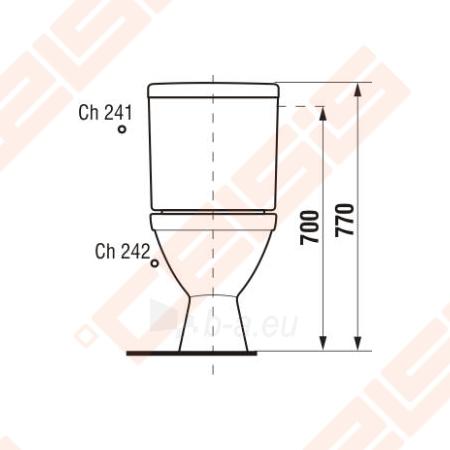 Toilet JIKA Lyra plus   with horizontal trap Paveikslėlis 2 iš 4 270713000214