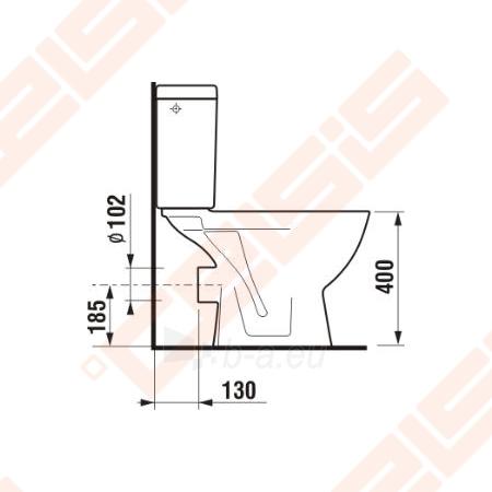 Toilet JIKA Lyra plus   with horizontal trap Paveikslėlis 3 iš 4 270713000214