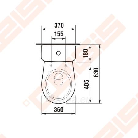 Toilet JIKA Lyra plus   with horizontal trap Paveikslėlis 4 iš 4 270713000214