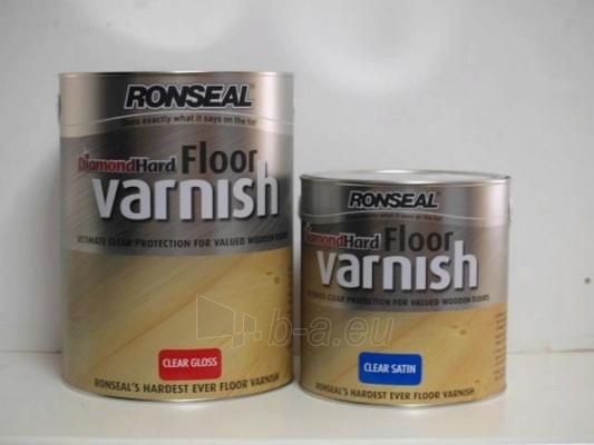Lakas pusiau matinis Diamond Hard Floor Varnish 2,5ltr tamsus ąžuolas Paveikslėlis 1 iš 2 236590000014