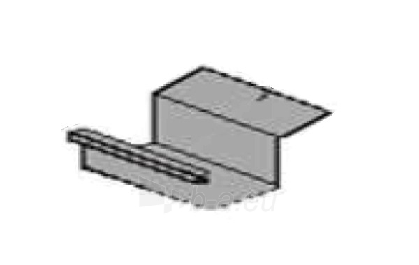 Latako jungtis stačiakampė su sijonu 60x80 mm (cinkuota) Paveikslėlis 2 iš 2 237520200140