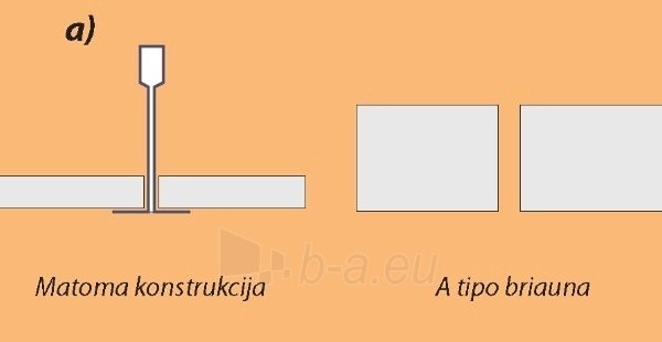 Lubos Gyptone Plank Quattro55, E15 300x1800x12,5 Paveikslėlis 3 iš 3 237741000211