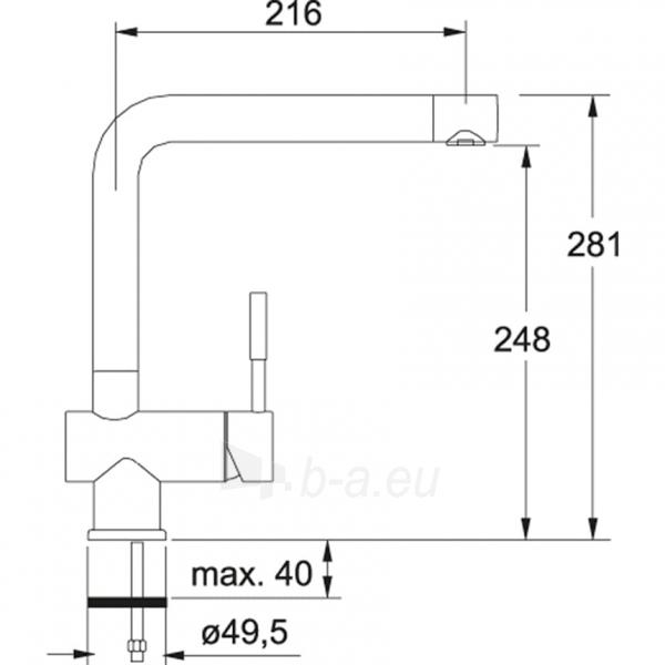 Maišytuvas FRANKE BAT SAMOA Chromas Paveikslėlis 5 iš 5 271512000090