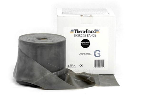 Mankštos juosta THERA-BAND juoda (1 m) Paveikslėlis 1 iš 3 250620600009