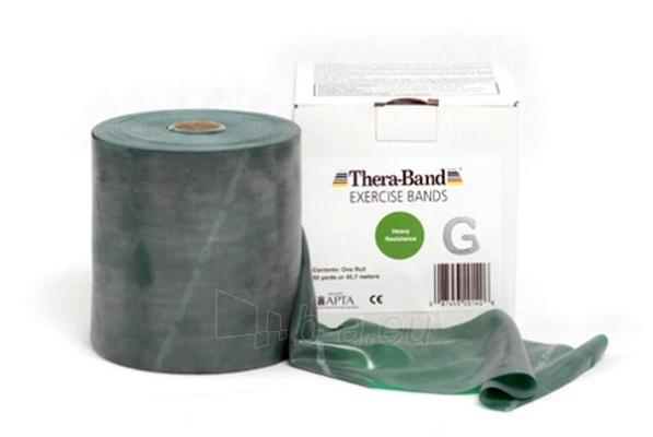 Mankštos juosta THERA-BAND žalia (1 m) Paveikslėlis 1 iš 3 250620600005