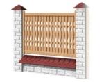 Medinė tvoros sekcija D - tipo 1950x1000 mm Paveikslėlis 1 iš 1 239320600002