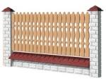 Medinė tvoros sekcija D1 - tipo 1950x1000 mm Paveikslėlis 1 iš 1 239320600003