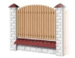 Medinė tvoros sekcija H - tipo 1950x1000 mm Paveikslėlis 1 iš 1 239320600004
