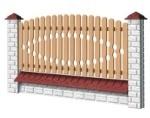 Wood Fence Panels I - type 1950x1000 mm Paveikslėlis 1 iš 1 239320600005