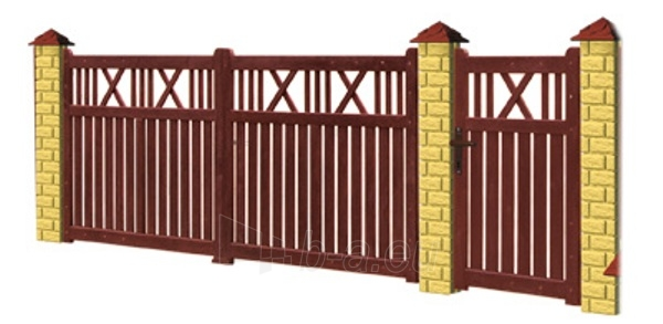 Mediniai tvoros vartai A - tipo 4000x1400 mm Paveikslėlis 1 iš 1 239320500006
