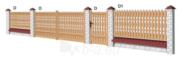 Wood Fence Gates D - type 4000x1400 mm Paveikslėlis 1 iš 1 239320500000