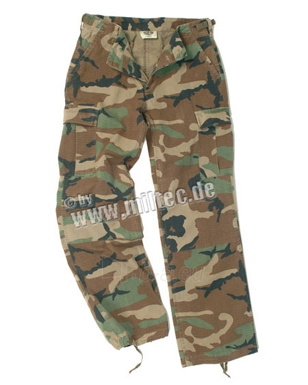 Moteriškos kelnės BDU US ARMY, žaliai-ruda maskuotė Paveikslėlis 1 iš 1 251510400006