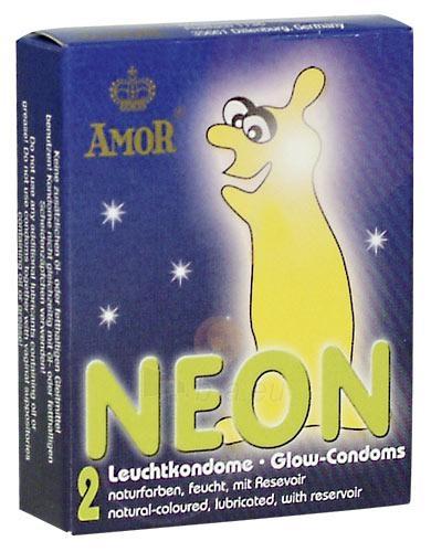 My Amor - Neoniniai prezervatyai 2 vnt. Paveikslėlis 1 iš 1 2514135000008