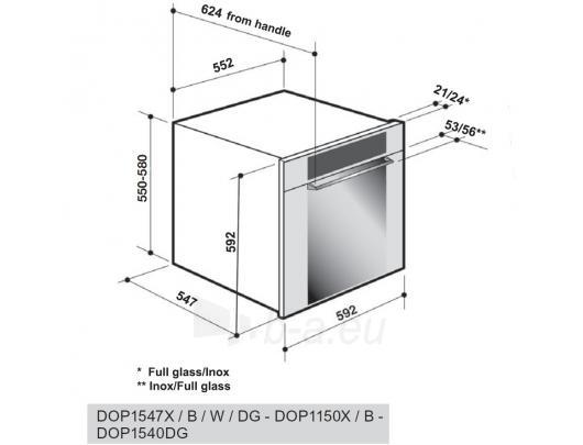 Orkaitė DE DIETRICH DOP 870B Paveikslėlis 1 iš 2 250133000182