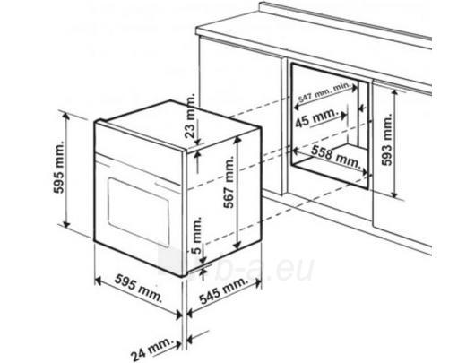 Orkaitė HOTPOINT-ARISTON FT 95 V C.1 (AN) Paveikslėlis 2 iš 2 250133000185